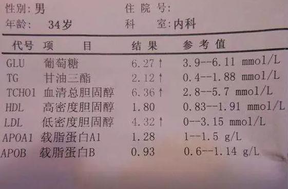 化验单(供参考)