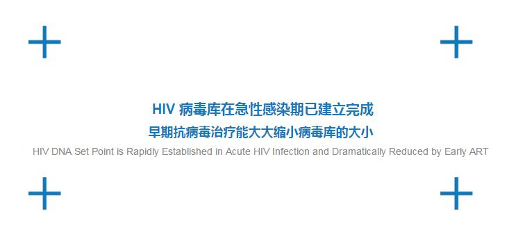 HIV DNA及早检测、及早发现感染、及早治疗,能够有效控制病毒库的大小