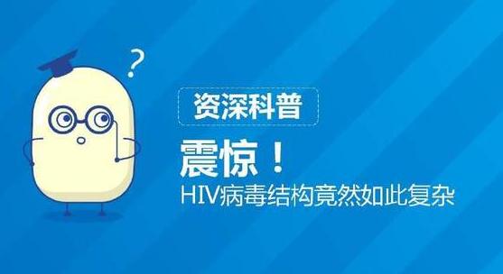 HIV病毒结构的复杂程度