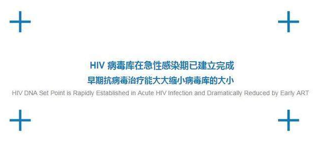 HIV病毒库在急性感染期已建立完成,早期抗病毒治疗能大大缩小病毒库的大小