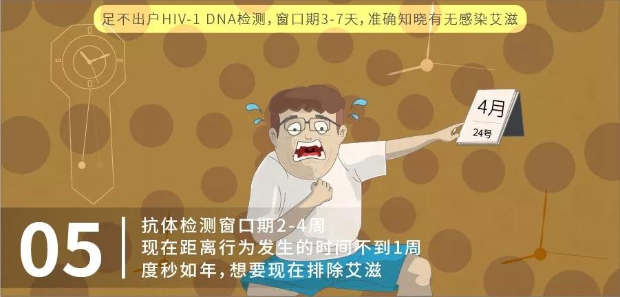 05 抗体检测窗口期2-4周,现在距离行为发生的时间不到1周,度秒如年,想要现在排除艾滋