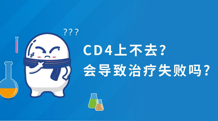 CD4上不去会导致治疗失败吗