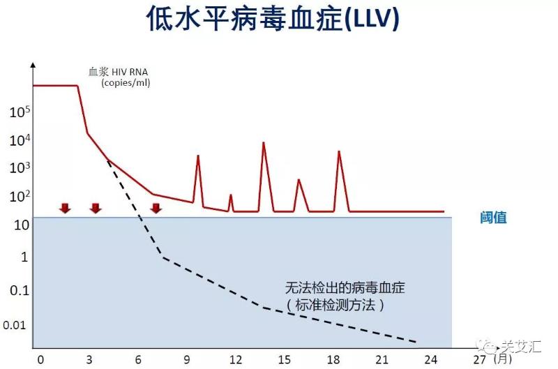 图4 低病毒血症病毒抑制情况
